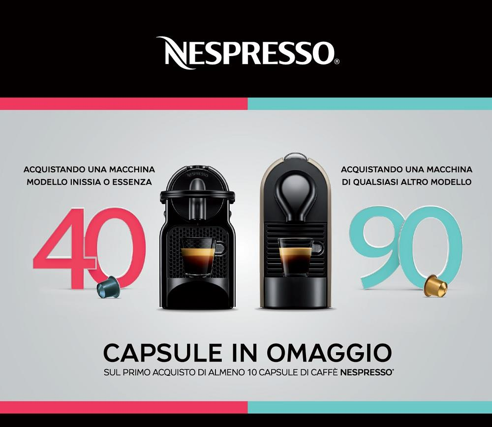 nespresso 40 capsule omaggio. Black Bedroom Furniture Sets. Home Design Ideas
